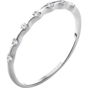 14K White .06 CTW Diamond Stackable Ring