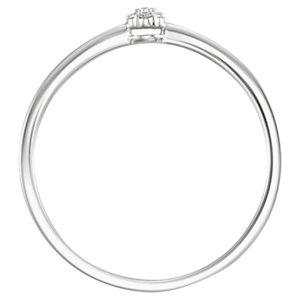 14K White .025 CTW Diamond Ring