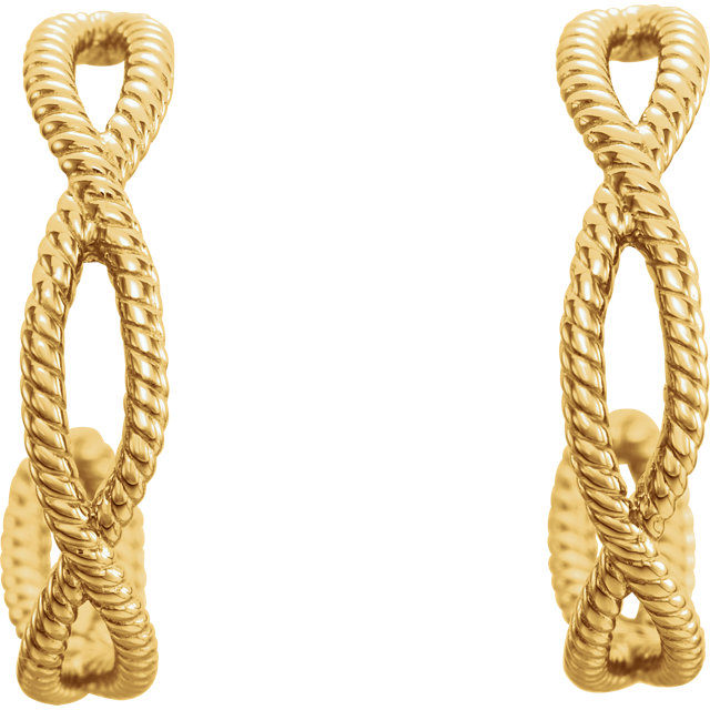 14K Yellow Rope Earrings