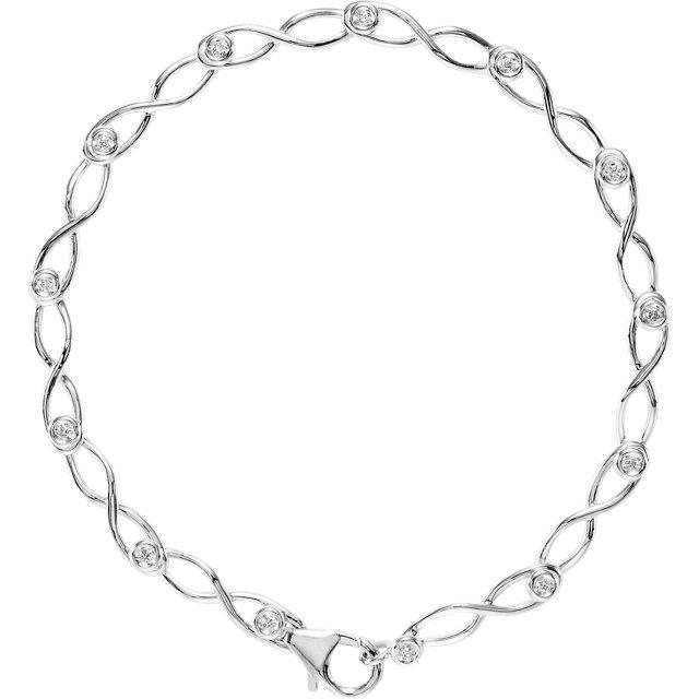 14K White 1/8 CTW Diamond 7