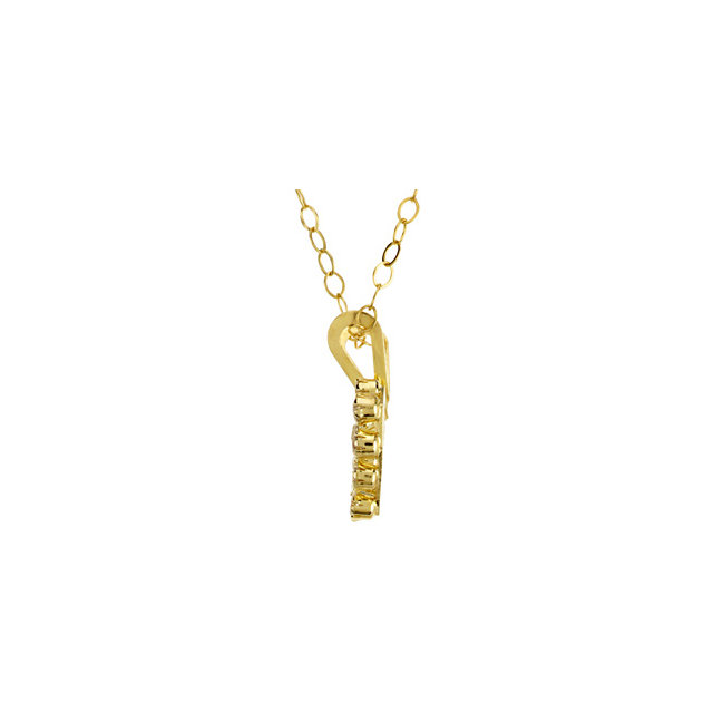 14K Yellow Youth Cubic Zirconia 15