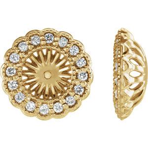 Earring Jackets, 14K Yellow 1/2 CTW Diamond Earring Jackets