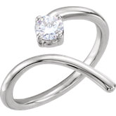 Charles & Colvard Moissanite® Negative Space Bypass Ring