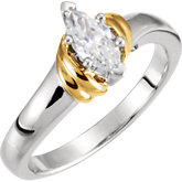 6-Prong V-End Solitaire Engagement Ring