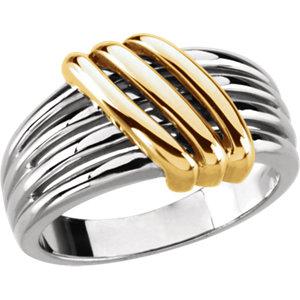 Fashion Rings , 18K White & Yellow Fashion Ring