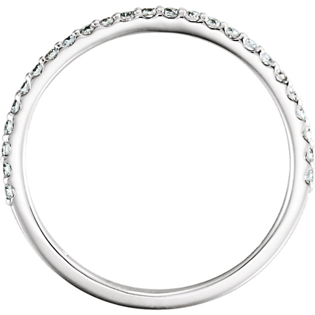 14K White 1/4 CTW Diamond Matching Band
