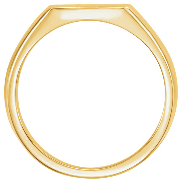 14K Yellow 15x12mm Signet Ring