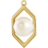 Geometric Freshwater Cultured Pearl Dangle