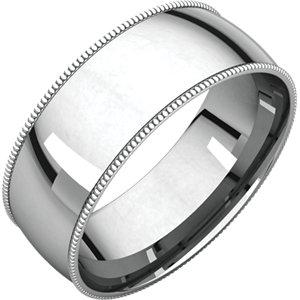 Sterling Silver 7 mm Milgrain Lightweight Comfort-Fit Band