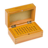 36 Hole Wooden Bur Box with Lid
