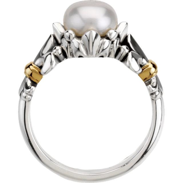 Fleur-de-lis Pearl Ring