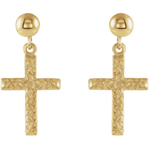 Cross & Ball Earrings