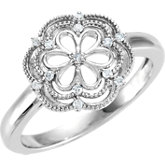 Granulated Filigree Ring