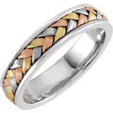 Tri-Color Hand-Woven Band