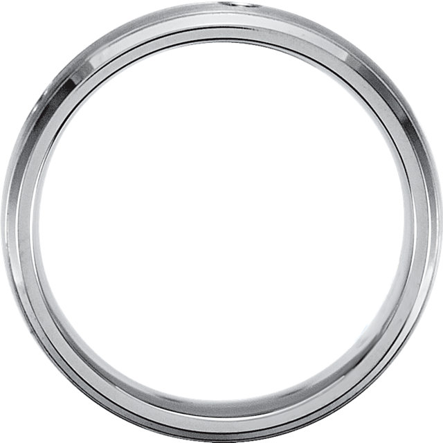 TITANIUM 1/5 CTW Diamond 5 mm Band Size 7.5