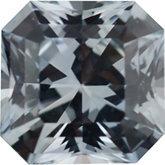 Asscher Cut Princess Genuine White Sapphire (Black Box)