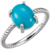 Cabochon Rope Ring