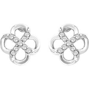 Sterling Silver 1/6 CTW Diamond Earrings