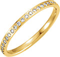 14K Yellow 3/8 CTW Diamond Eternity Band Size 6