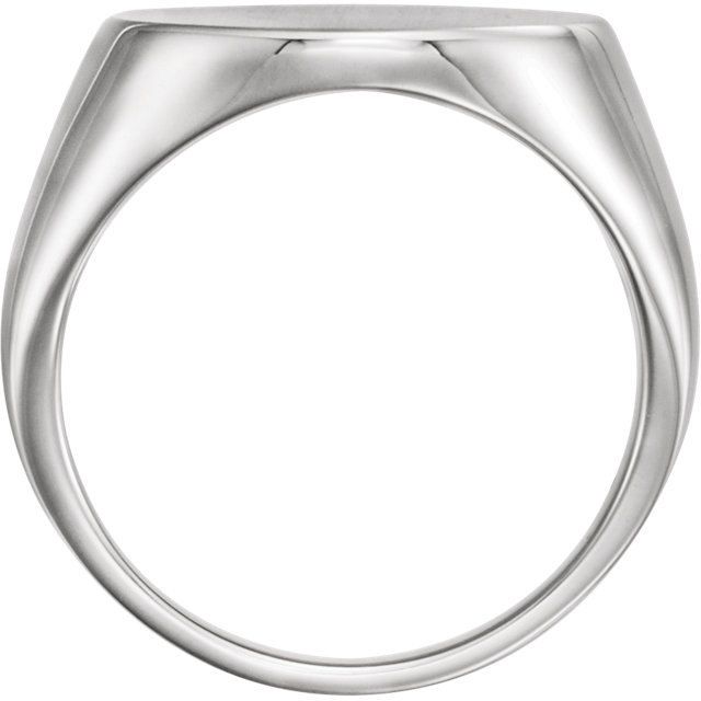 Sterling Silver 18mm Men-s Signet Ring with Brush Finish