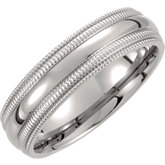 Titanium Double Milgrain Band