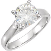 Charles & Colvard Moissanite® Solitaire Engagement Ring
