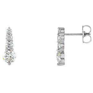Earrings , Journey Diamond Earring