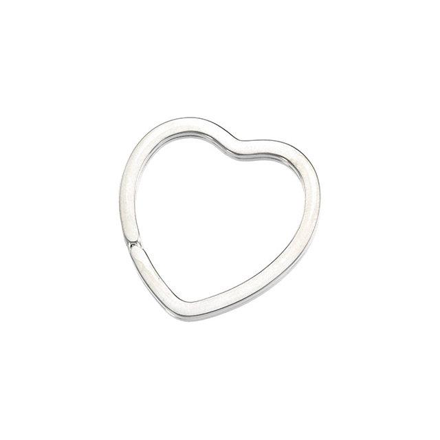Sterling Silver 34x33.3 mm Heart Shape Key Ring