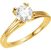 Twin-Prong Solitaire Engagement Ring or Band