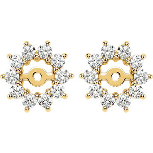 Earring Jackets, 14K Yellow 5/8 CTW Diamond Earring Jackets