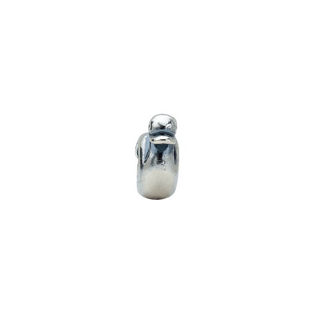 Sterling Silver [size;cv2] Duck Slider Bead