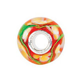 Kera® Red with Yellow Floral-Inspired Glass Bead