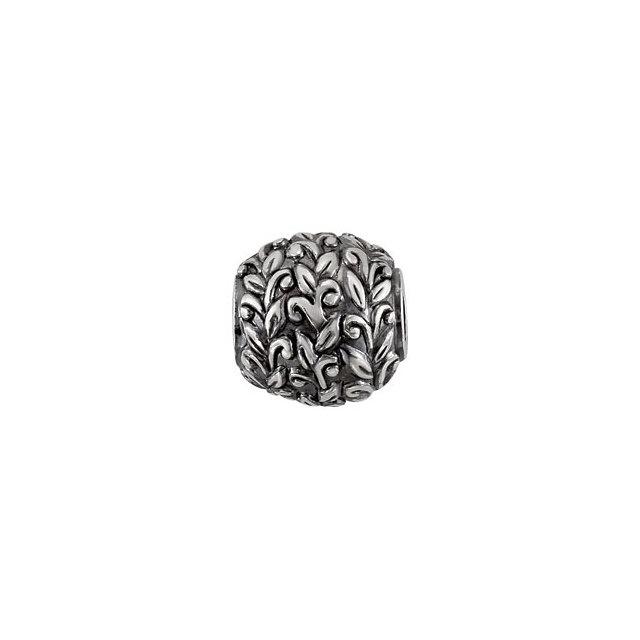 Sterling Silver Kera® Leaf Pattern Bead