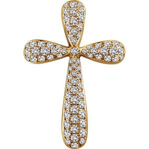 Pendant, 14K Yellow 1 CTW Diamond Cross Pendant