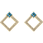 Accented Geometric Earrings