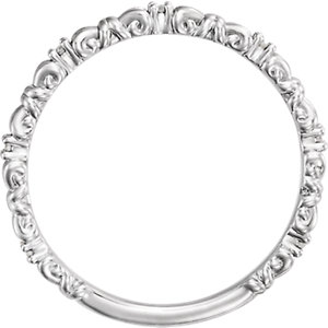 14K White .04 CTW Diamond Stackable Ring