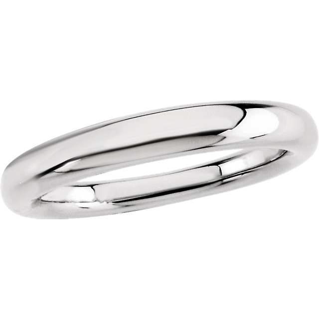 Sterling Silver 3.5mm Fancy Tapered Band