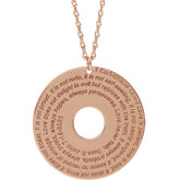 Verse Disc Necklace