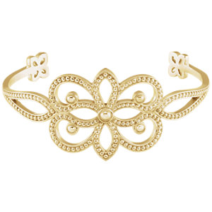 Bracelet, 18K Yellow Granulated Cuff Bracelet