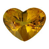 Heart Genuine Yellow Sapphire (Black Box)
