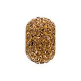 Kera® Smoky Topaz Colored Crystal Pave' Bead