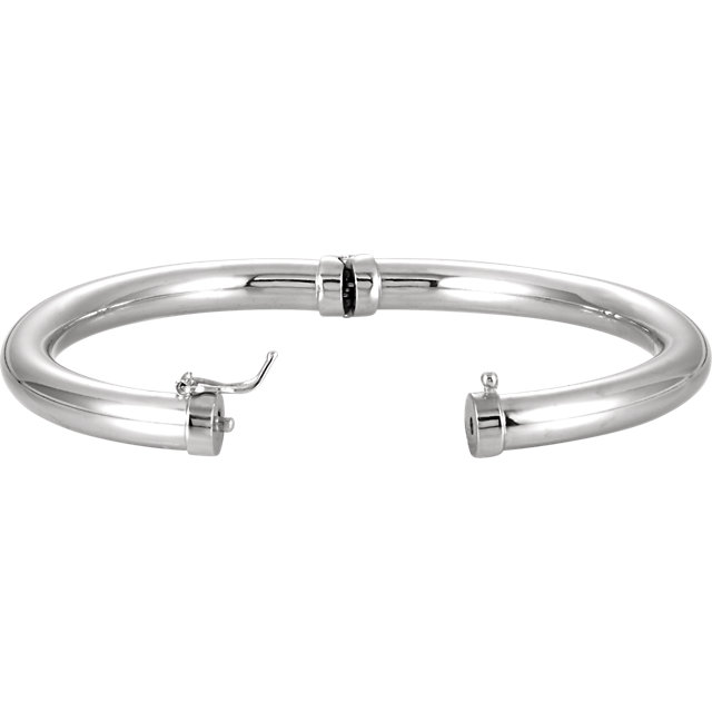 Sterling Silver Hinged Bangle Bracelet