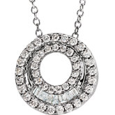Accented Double Circle Necklace