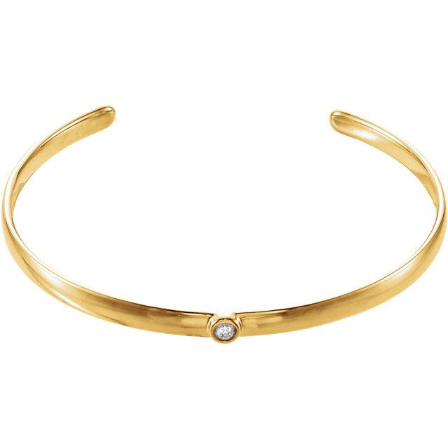 14K Yellow 1/10 CTW Diamond 8