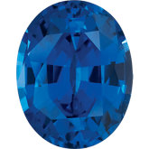 Oval Lab Created Blue Sapphire