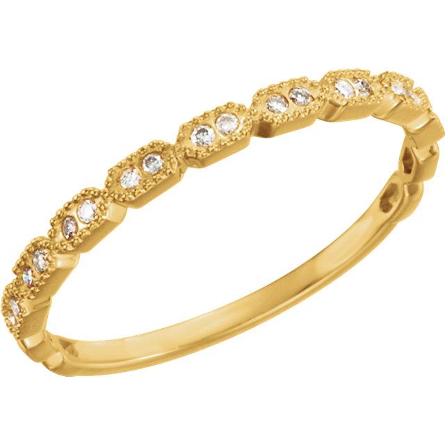 14K Yellow .08 CTW Diamond Ring Size 7
