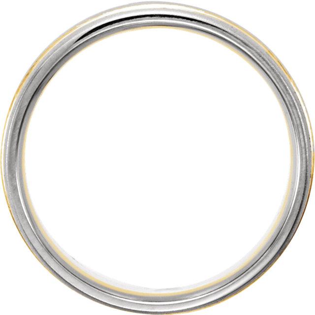 14K White & Yellow 7mm Band Size 11.5
