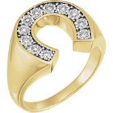 Men's Horseshoe Ring