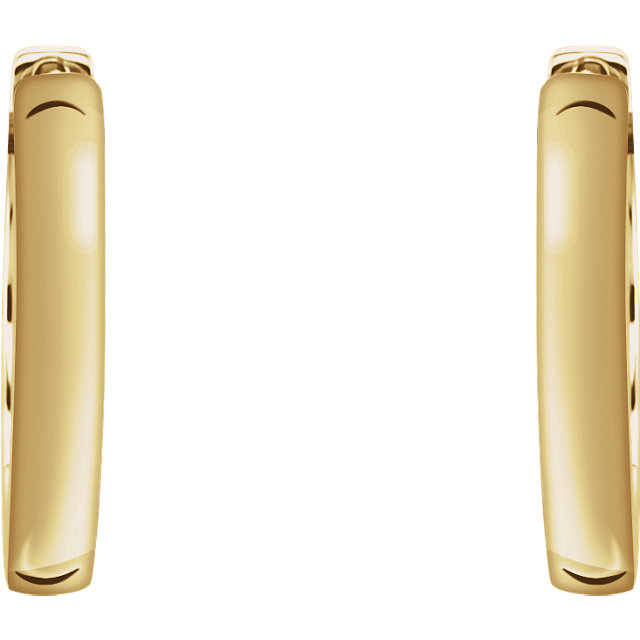 18K Yellow 16x2.5 mm Hinged Hoop Earrings