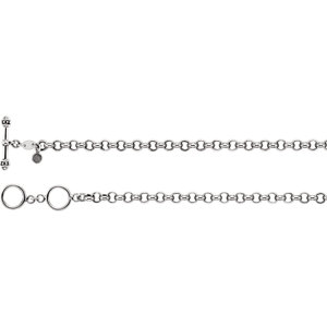 5mm Sterling Silver Charm Bracelet